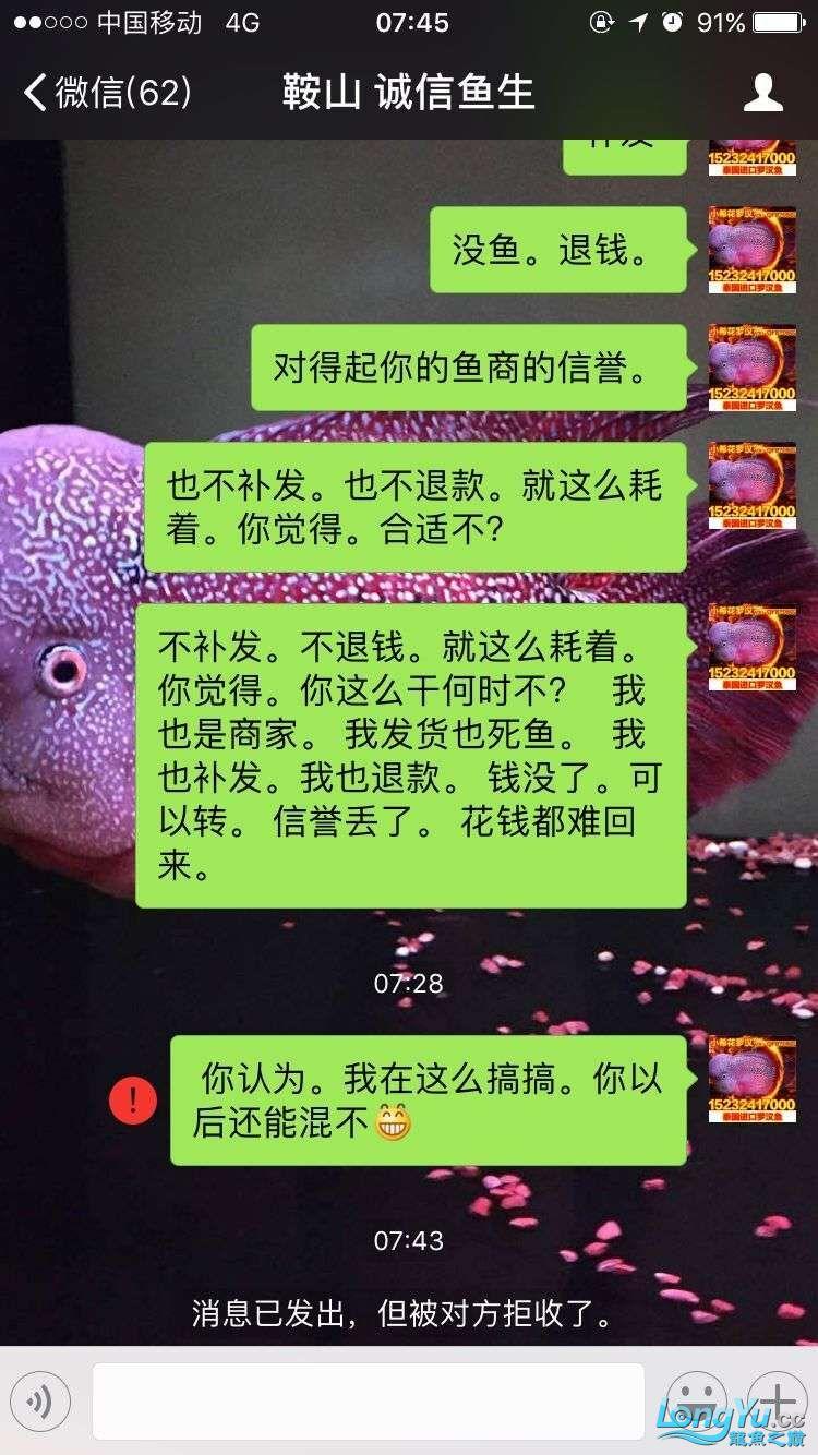 举报一个鞍山骗子 北京龙鱼论坛 北京龙鱼第1张