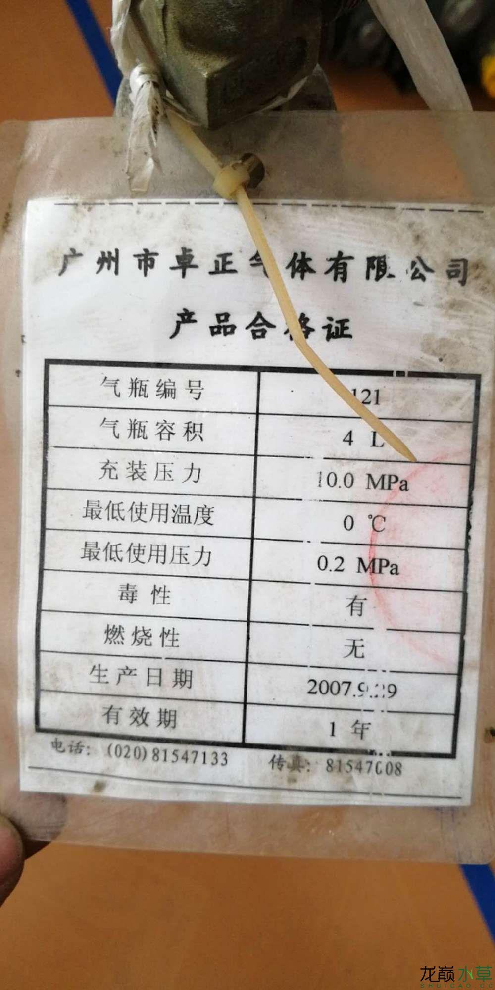 帮忙看看这个铝瓶可以充CO2吗? 北京观赏鱼 北京龙鱼第2张