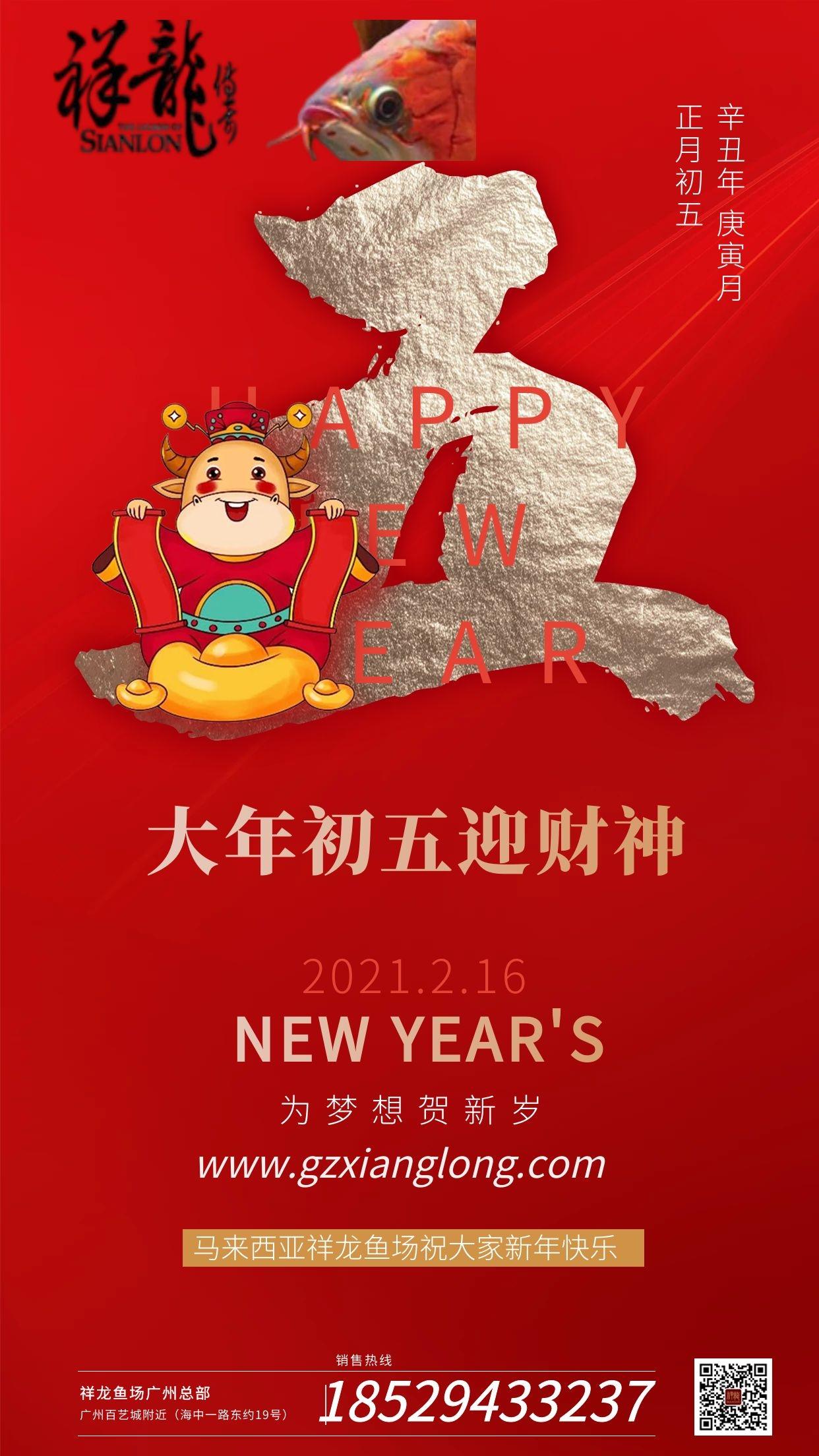 北京祥龙水族馆恭贺本市鱼友新春快乐祝福2021 北京水族馆信息 北京龙鱼第8张